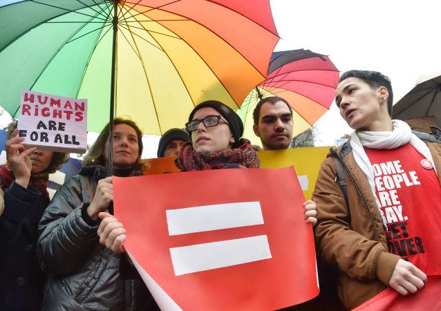 Průvod LGBT v Kyjevě. Archivní foto
