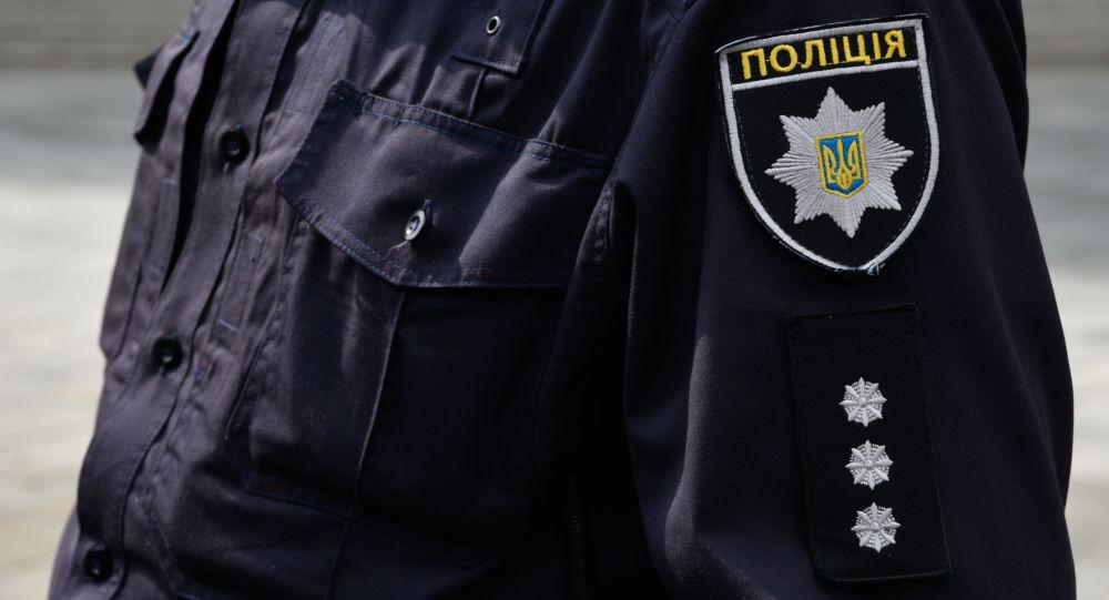 Ukrajinský policista v Kyjevě