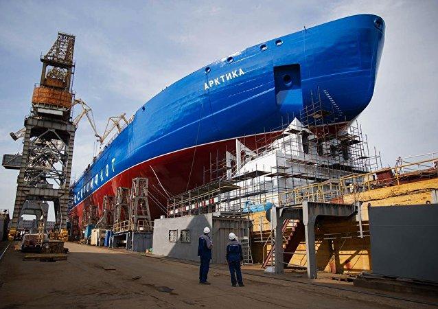 První loď projektu 22220 Arktika. Ilustrační foto