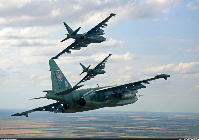 Ukrajinská bitevní letadla Su-25