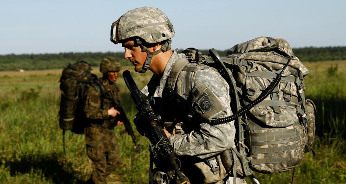 Američtí vojáci během cvičení v Polsku