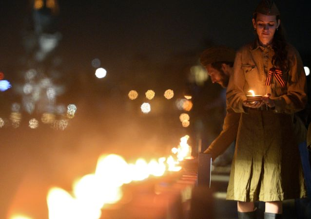 Akce v rámci Dne paměti a smutku v Moskvě