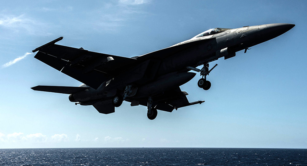 Americká stíhačka F/A-18F Super Hornet. Ilustrační foto
