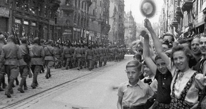 Praha v roce 1945