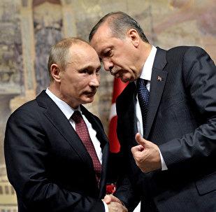 Ruský prezident Vladimir Putin a turecký prezident Recep Tayyip Erdogan