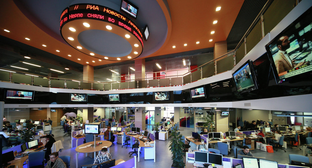 News room RIA Novosti