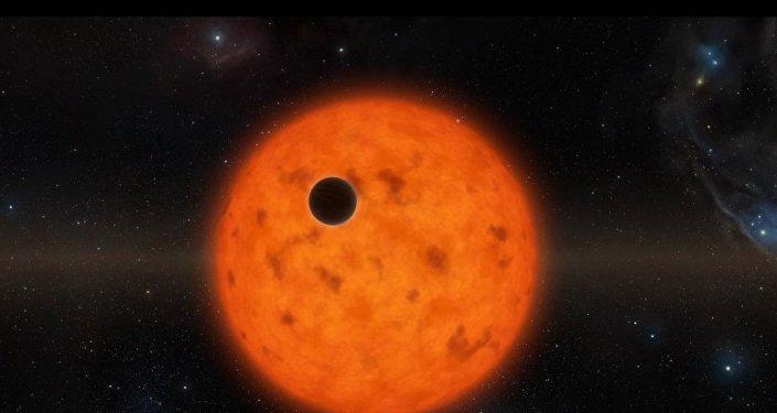 Planeta na pozadí mladé hvězdy