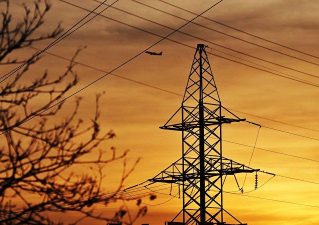 Elektrické vedení  ve Lvovské oblasti