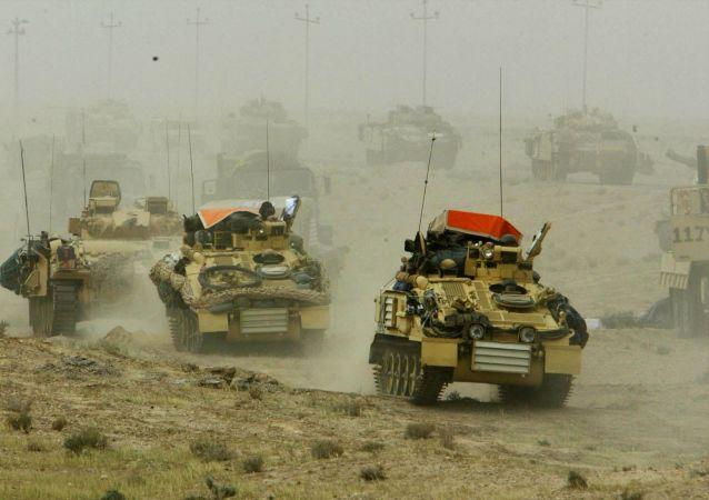 Britské tanky v Iráku, 2003