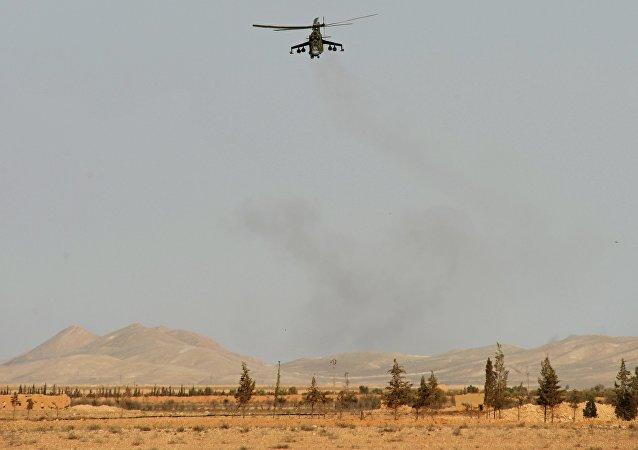 Mi-24 v okolí Palmýry