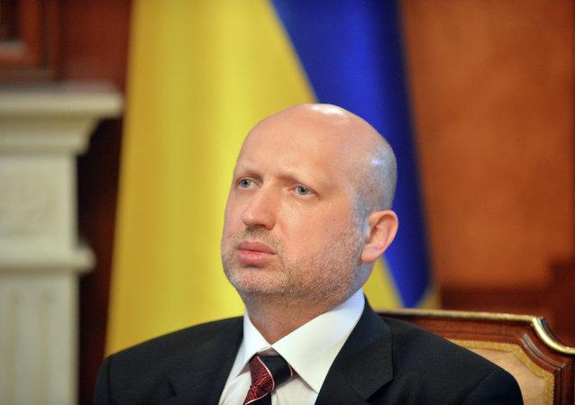 Tajemník Rady národní bezpečnosti a obrany Ukrajiny Oleksandr Turčynov