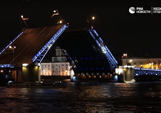 Palácový most v Petrohradě