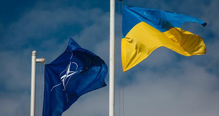 Vlajky Ukrajiny a NATO