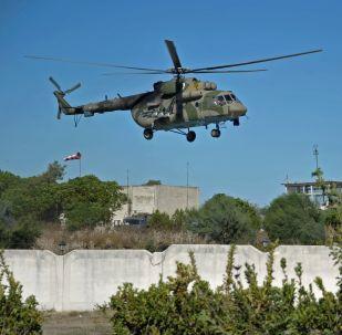 Ruský vrtulník Mi-8 v Sýrii