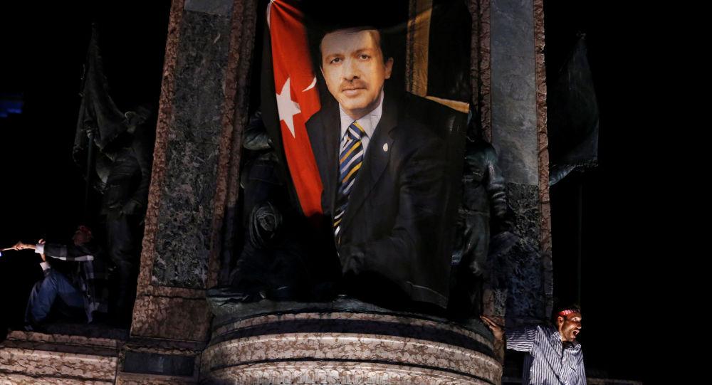 Portrét Recepa Tayyipa Erdogana v Istanbulu
