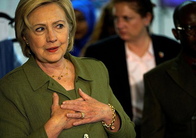 Kandidátka na prezidenta USA, demokratka Hillary Clintonová