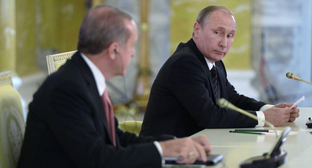 Turecký prezident Recep Tayyip Erdoğan a ruský prezident Vladimir Putin