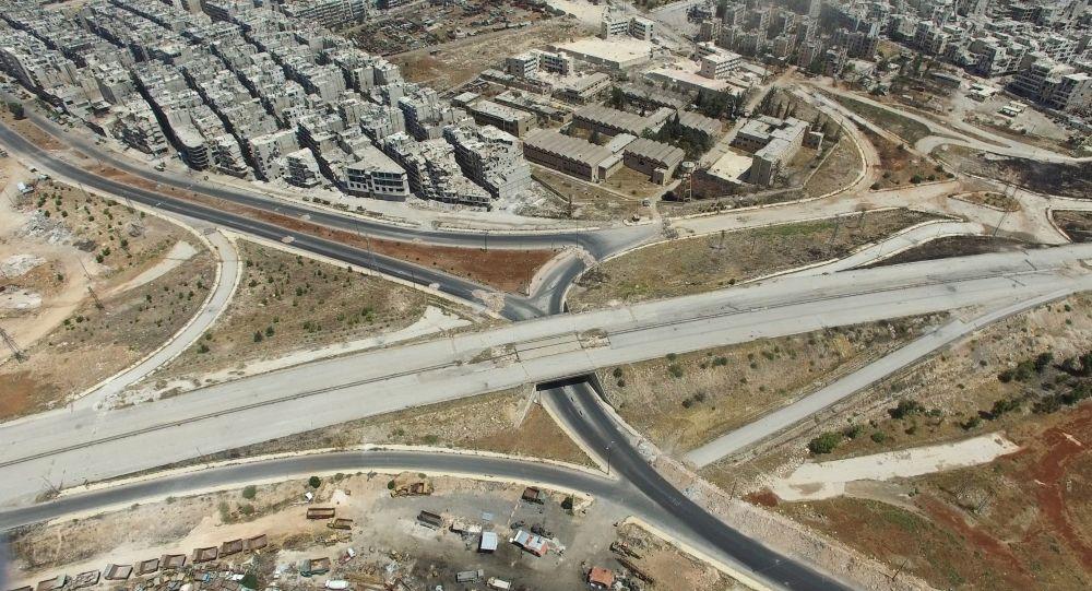Hlavní vjezd do Aleppa, čtvrť Salaheddin