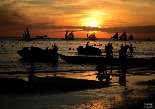 Rybáři na Filipinách