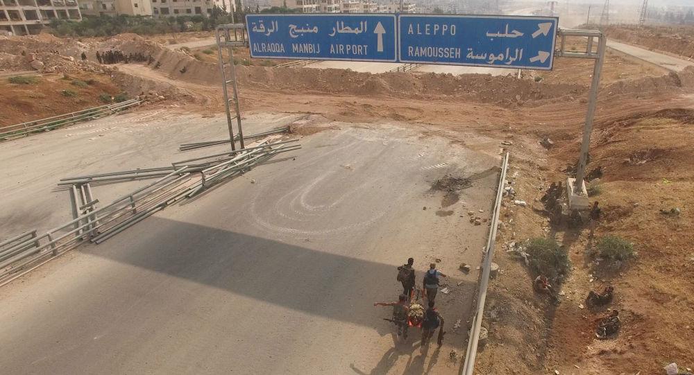 Situace na jihozápadě Aleppa