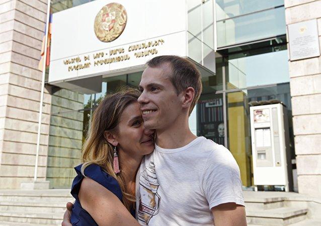 Sergej Mironov a jeho manželka Julie