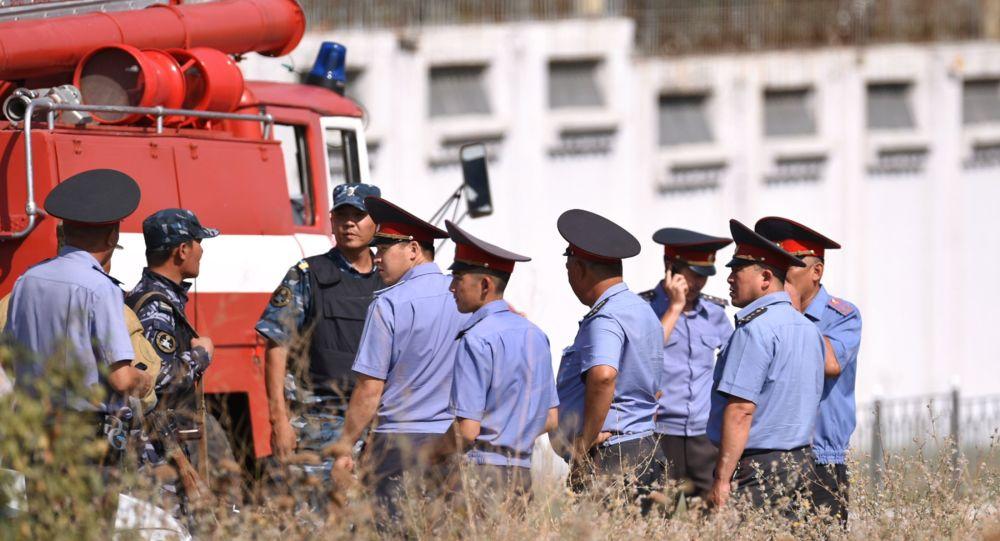 Místo výbuchu u čínského velvyslanectví v Biškeku