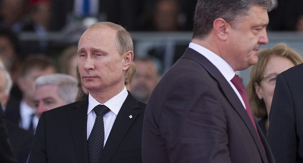 Vladimir Putin a Petro Porošenko