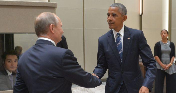 Schůzka ruského prezidenta Vladimira Putina a prezidenta USA Baracka Obamy na okraj summitu G20 v Číně