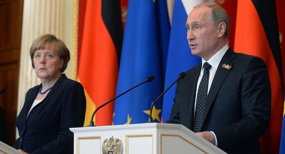 Angela Merkelová a Vladimír Putin