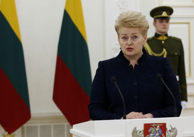 Litevská prezidentka Dalia Grybauskaitėová