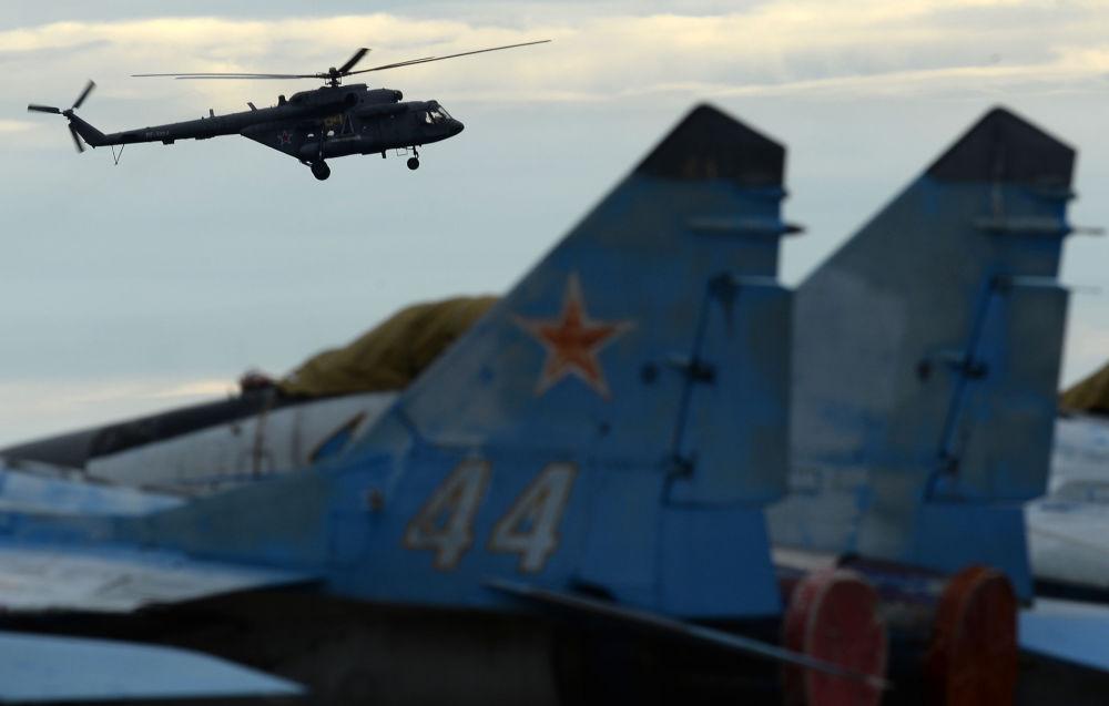 Vrtulník Mi-8 na Mezinárodním vojensko-technickém fóru Armáda 2016
