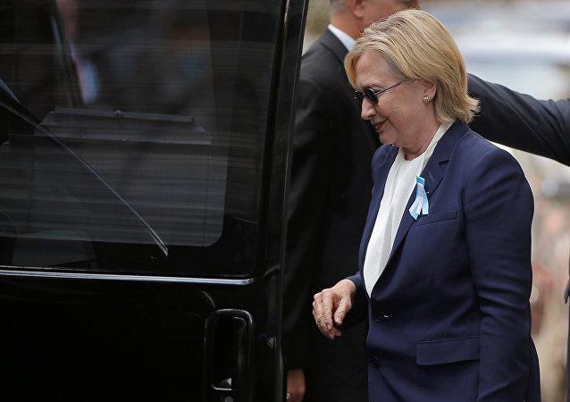 Kandidátka na prezidentský post za Demokratickou stranu USA Hillary Clintonová
