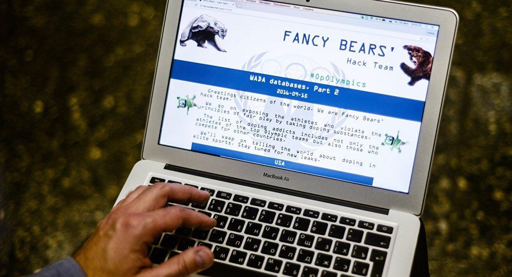 Webové stránky skupiny Fancy Bears