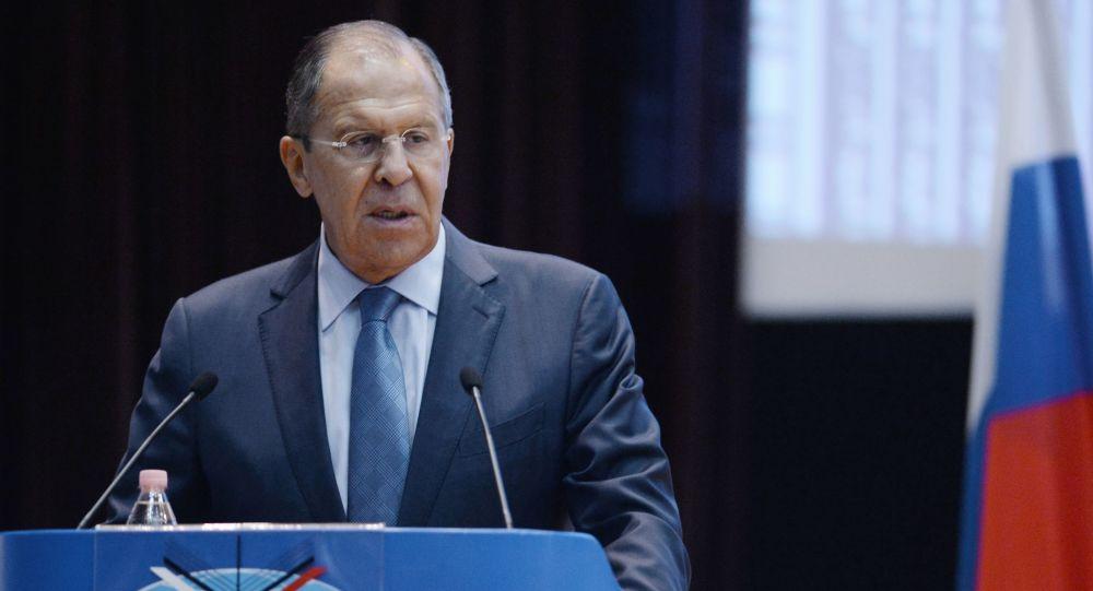 Sergej Lavrov během vystoupení v MGIMO