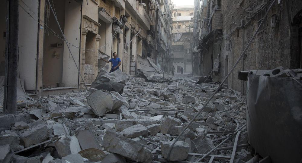Aleppo po útoku amerického letectva