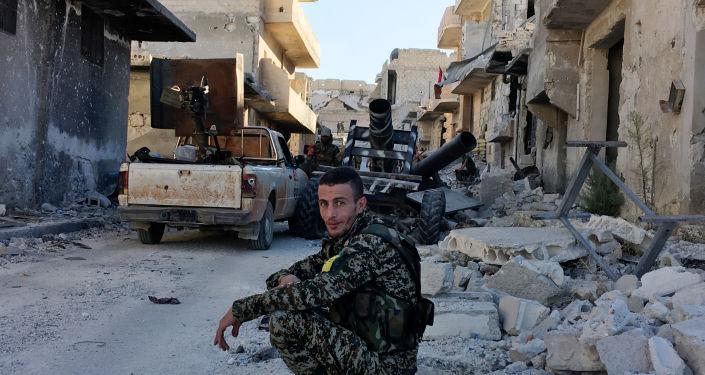 Příslušník domobrany v Aleppu