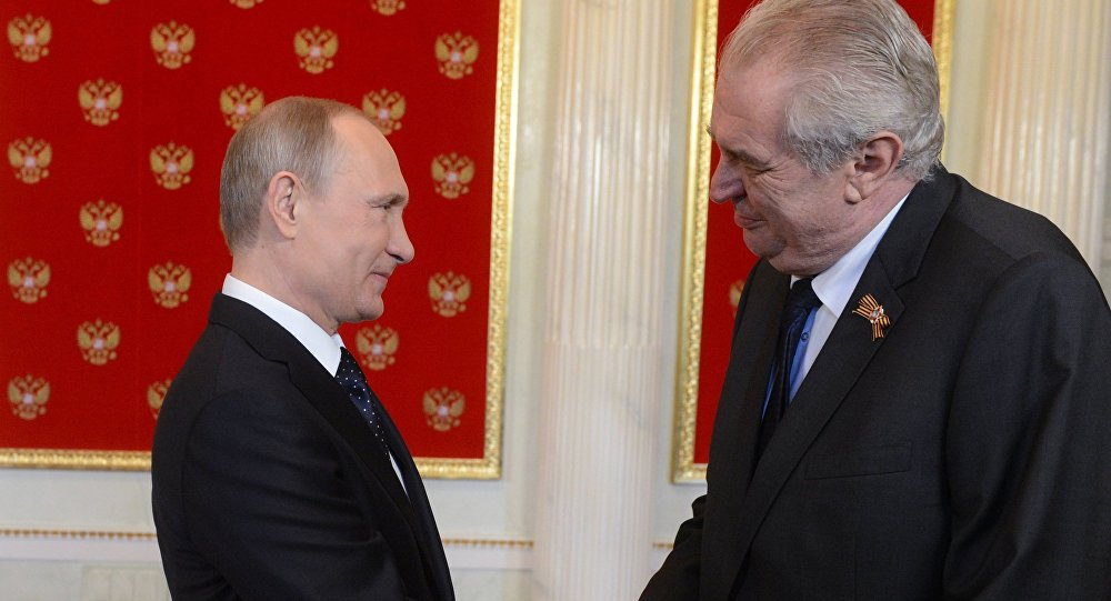 Vladimir Putin a Miloš Zeman
