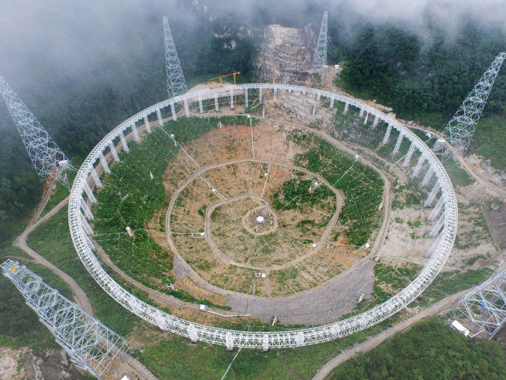Stavba radioteleskopu FAST