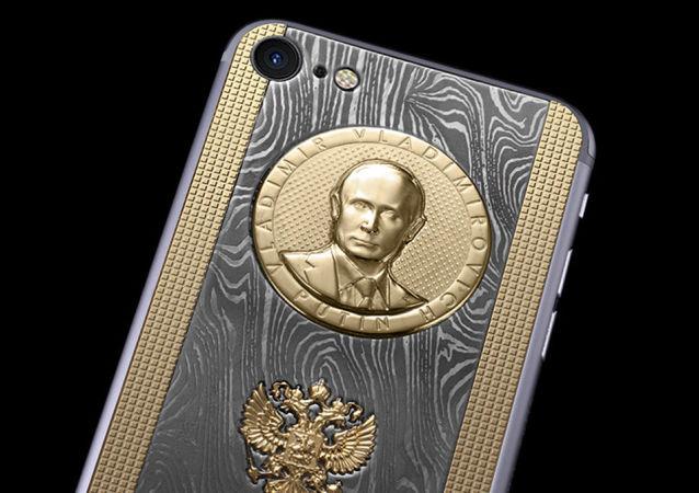 iPhone 7S s reliéfem prezidenta Vladimira Putina