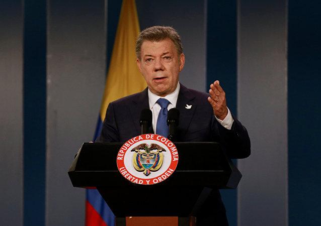 Prezident Kolumbie Juan Manuel Santos