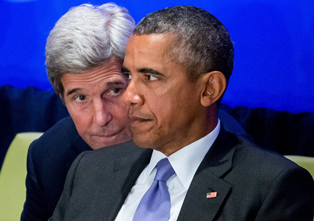 John Kerry a Barack Obama