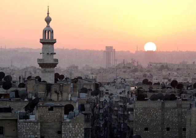 Západ slunce nad Aleppem