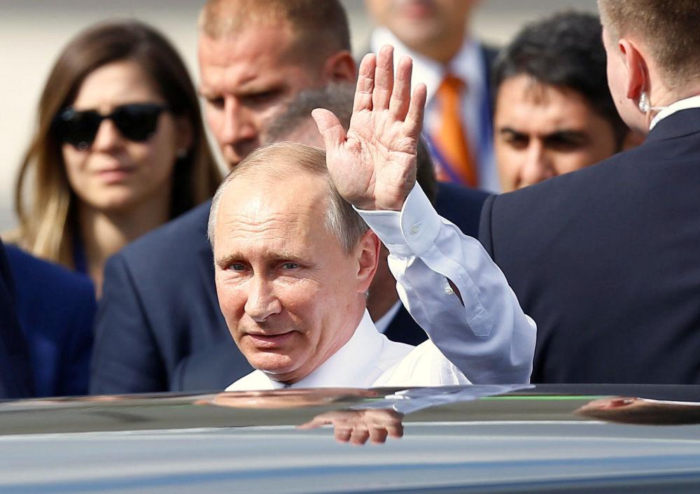 Putin na oficiální návštěvě v Turecku