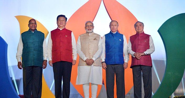 Společné foto hlav států BRICS