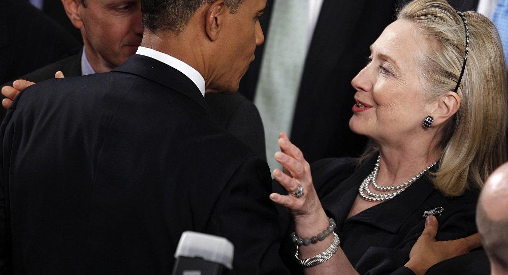 Barack Obama s Hillary Clintonovou