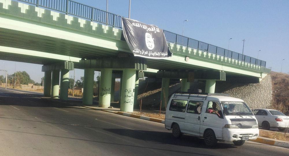 Vlajka Daiš u Mosulu