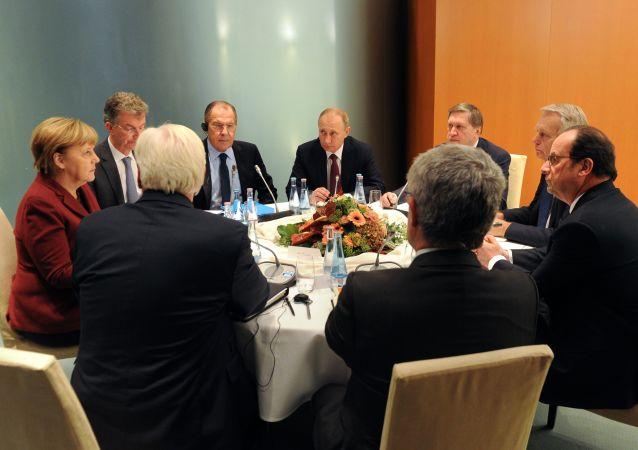 Summit normandské čtyřky v Berlíně