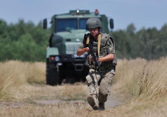 Cvičení ukrajinských pohraničních vojsk