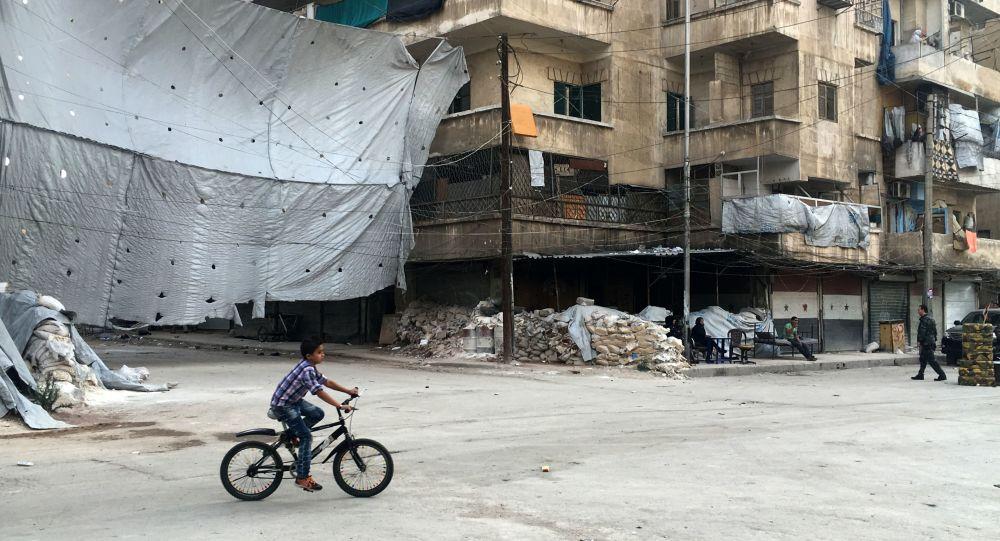 Čtvrť Bustan al-Kasr v Aleppu