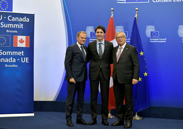 Donald Tusk, Justin Trudeau, Jean-Claude Juncker